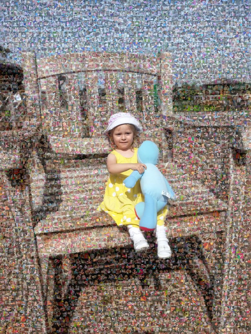Chair Mosaic with Sillouette