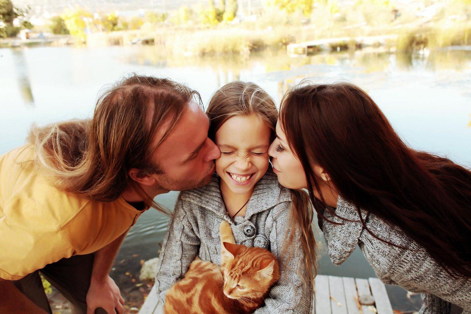 Family with Cat original